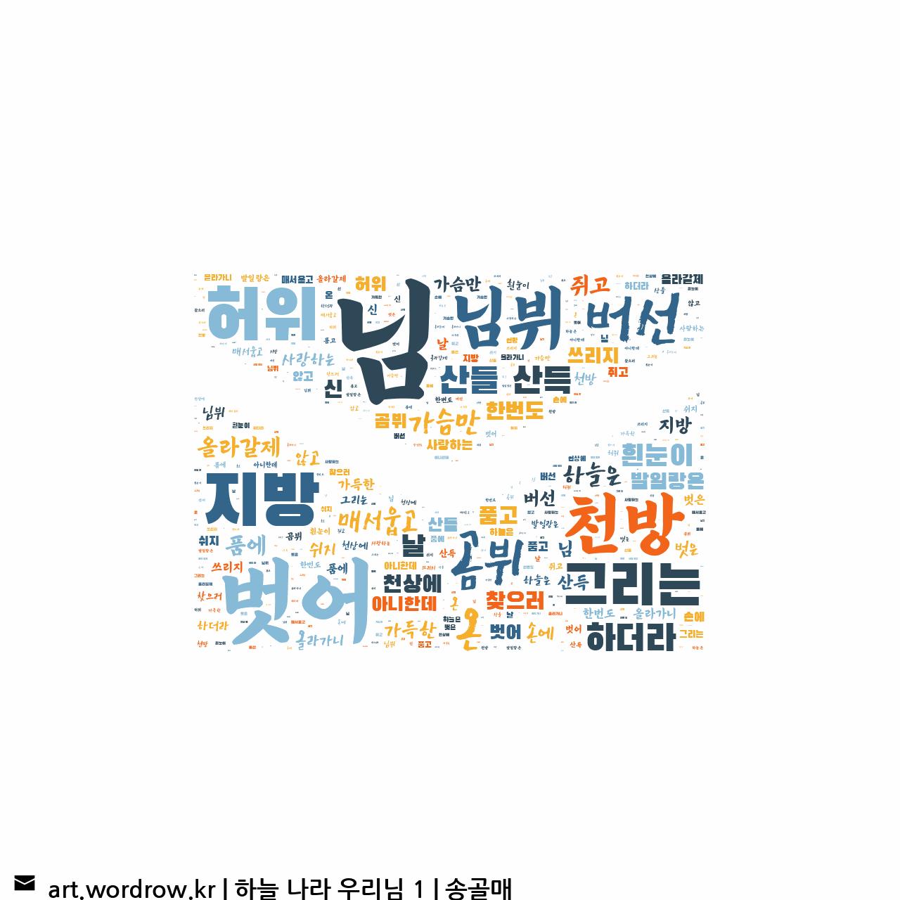 워드 아트: 하늘 나라 우리님 1 [송골매]-24